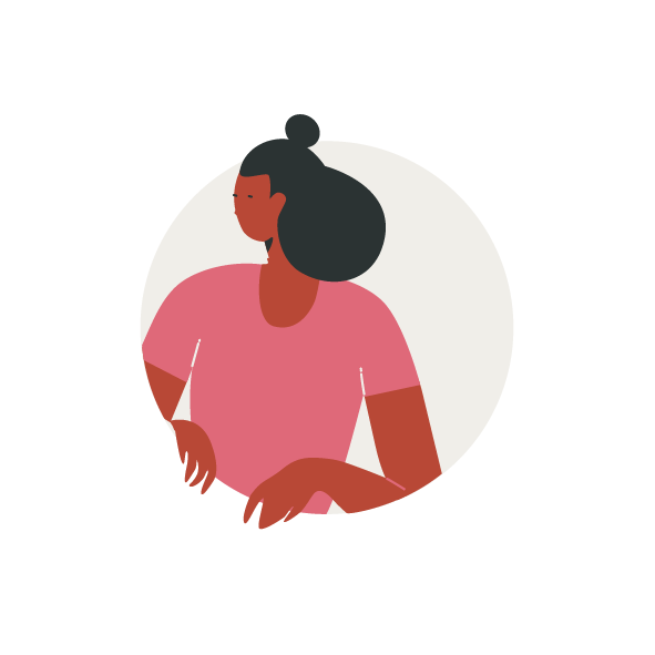 Person illustration in a circle