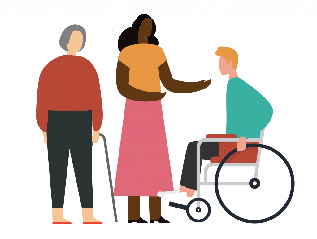 DAC Illustration of people chatting